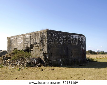 Bunkers from World War II in Zeeland (netherlands)
