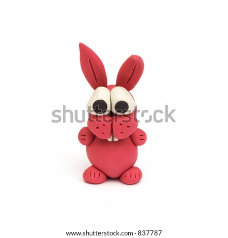 bunny, clay modeling