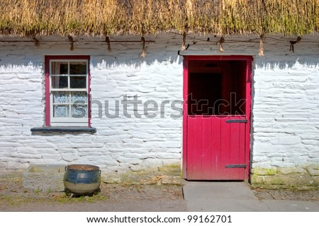 Bunratty Folk Park - Loop Head House in Ireland.