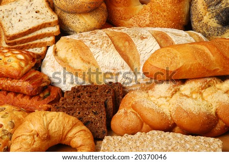 Buns, bread and cakes