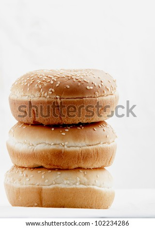 buns white background