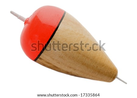 Buoy fishing wooden on a white background