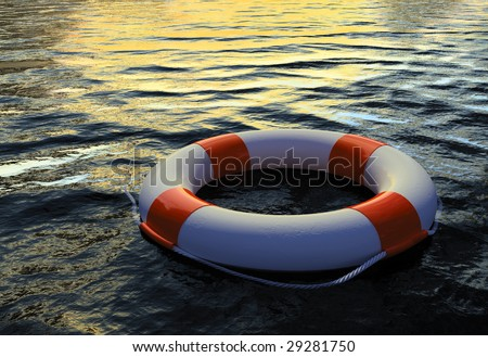 Buoy Ring floating on water 2