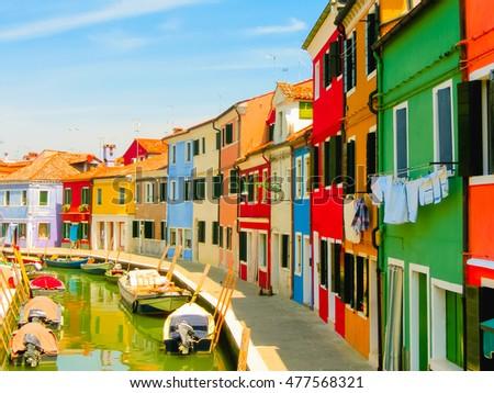 Burano, an island in the Venetian Lagoon #477568321