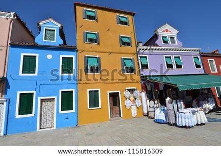 Burano Island, Venice, Italy - stock photo