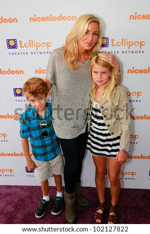 BURBANK - MAY 7: Camille Grammer and her kids attends Lollipop Theater Network 3rd Annual Game Day at Nickelodeon Animation Studios , May 7, 2011 in Burbank, CA