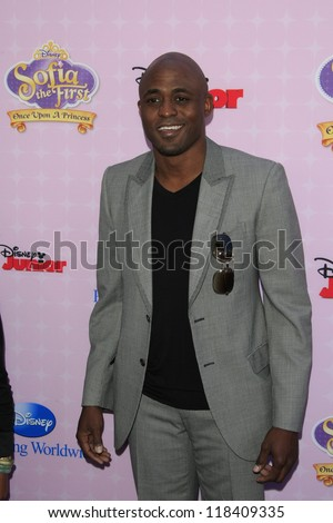 BURBANK - NOV 10: Wayne Brady at the premiere of Disney Channels' 'Sofia The First: Once Upon a Princess' at Walt Disney Studios on November 10, 2012 in Burbank, California - stock photo
