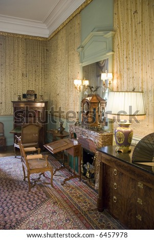 Bureau in Chateau Cheverny. Loire Valley, France.