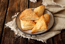 Burekas filled with cheese