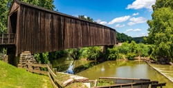 Burfordville Covered Bridge is part of the Bollinger Mill State Historic Site in Missouri. Built in 1858, it is listed on the National Register of Historic Places.