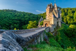 Burg Eltz castle in Rhineland-Palatinate state, Germany. Construction started prior to 1157.