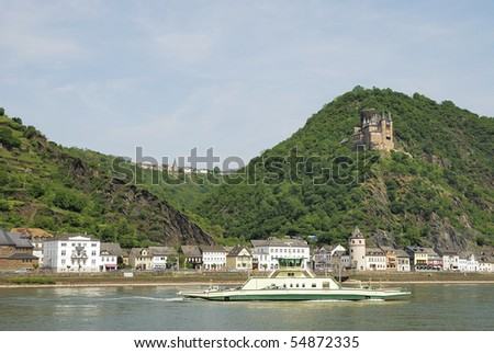 Burg Katz castle above St. Goarshausen at the river Rhine.