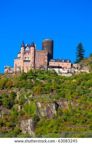 Burg Katz (or Burg Neukatzenelnbogen) - castle above the German town of St. Goarshausen in Rhineland-Palatinate