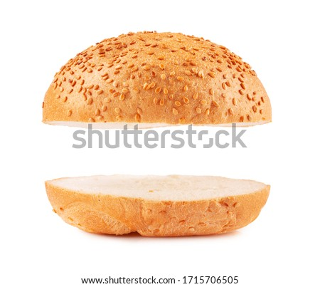 Burger buns empty isolated on white Stock photo ©