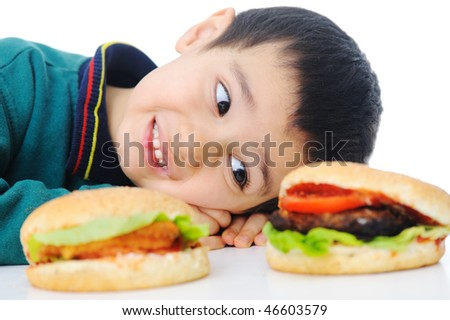 Burger, fast food - stock photo