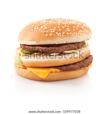 Burger fast food Isolated on white background