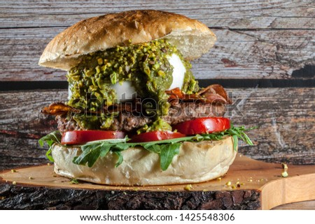 burger gourmet bread gourmet mozzarella cheese