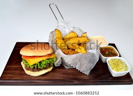 Burger gourmet dish #1060883252