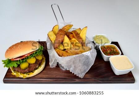Burger gourmet dish #1060883255