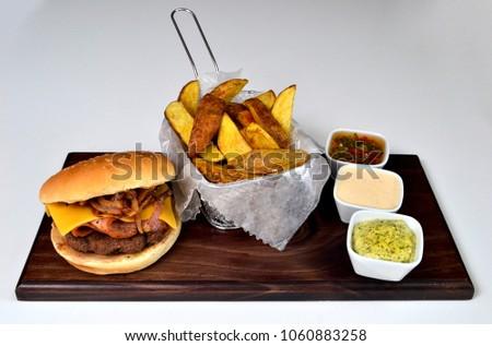 Burger gourmet dish #1060883258