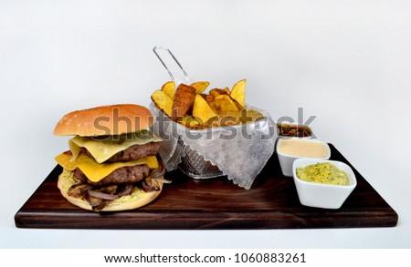Burger gourmet dish #1060883261