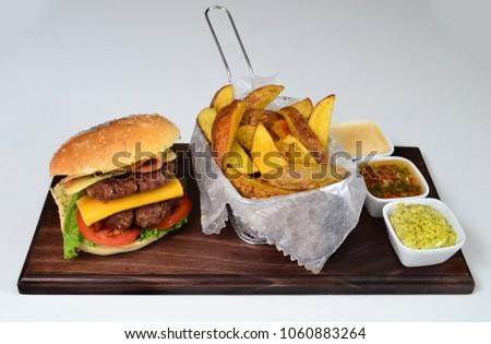 Burger gourmet dish #1060883264