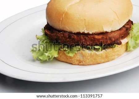 burger meals morning, noon, afternoon, fits all, isolated on white background