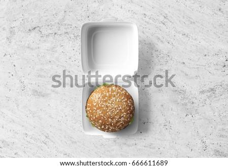 Burger packaging mockup #666611689