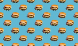 burger pattern, photo of a burger, quirky