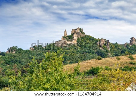 Burgruine Durnstein is a ruined medieval castle in Austria. It is located in Durnstein, in the Lower Austrian Wachau region on the Danube river