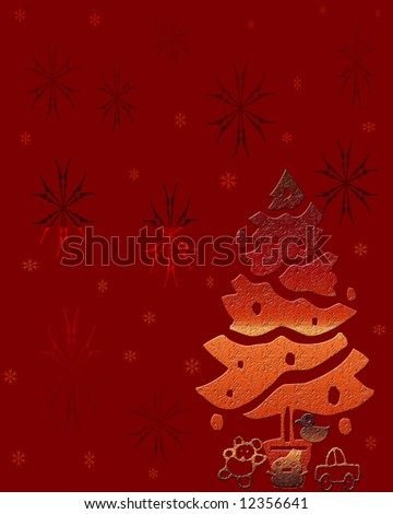 Burgundy background with festive designs