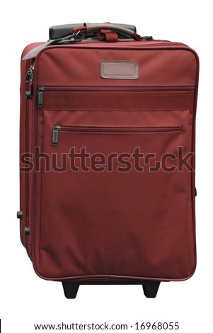 Burgundy carry-on travel case