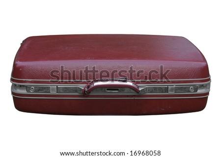 Burgundy vintage suitcase