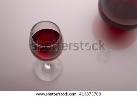 burgundy wine #413875708