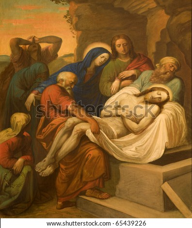Burial of Christ from Vienna chruch Kirche am Hof