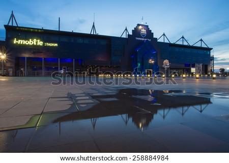 Buriram,Thailand - June 7, 2014: i-mobile Stadium on June 7, 2014.The i-mobile Stadium is the largest football stadium in Thailand.