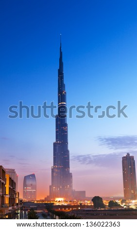 Burj Al-Khalifa is the tallest building in Dubai and in the world, which is situated in the downtown Dubai.