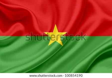 Burkina Faso waving flag