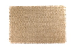Burlap Fabric isolated on a white background