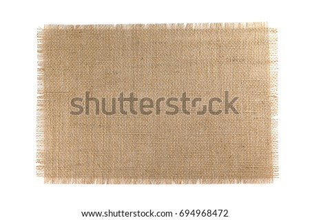 Burlap Fabric isolated on a white background Foto d'archivio ©