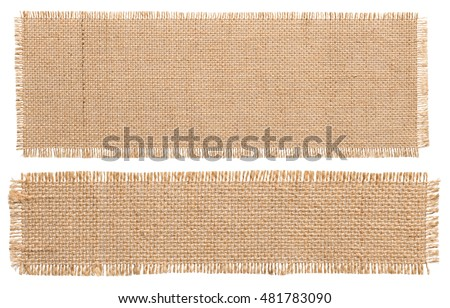Shutterstock Burlap Fabric Patch Piece, Rustic Hessian Sack Cloth, Isolated Torn Pieces