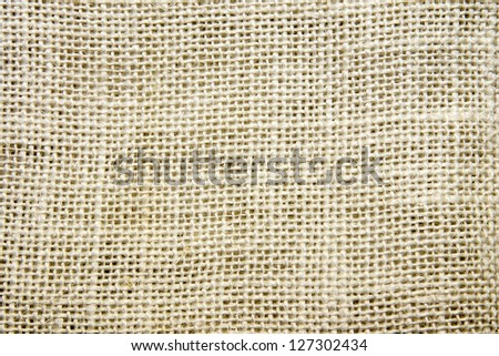 Burlap fabric texture close up. Sacking.