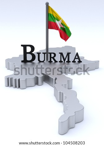 Burma graphic with flag