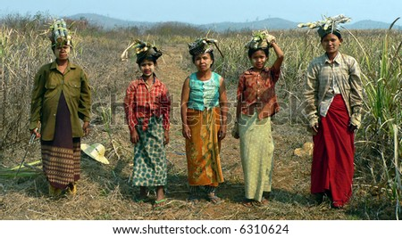 Burma (Myanmar). Sugar Plantation Workers