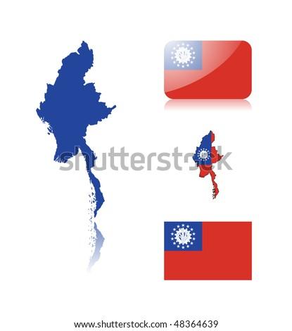 burmese flag in mm x ft