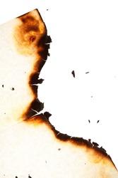 Burn hole in  paper