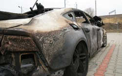 Burn sport car - right side
