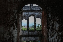 Burned and abandoned church, urbex