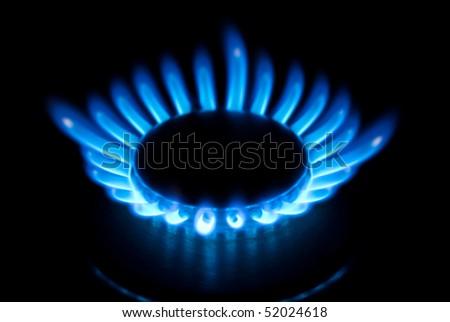 burner closeup - stock photo