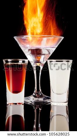 Burning alcoholic drinks